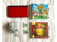 Nintendo 3DS with Zelda and Animal Crossing