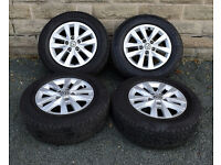 "16"" Genuine alloy wheels tyres 5x120 VW Volkswagen Transporter T5 T6"