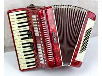 Studio 72 Bass 3 Voice Accordion - 34 Keys - Case & Straps