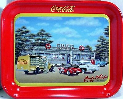 """1994 COCA COLA TRAY """"SIGN OF GOOD TASTE"""" SIGNED BY ARTIST PAMELA C. RENFROE NOS"""
