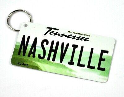 USA Nashville Tennessee Schlüsselanhänger Blechschild License Plate Style
