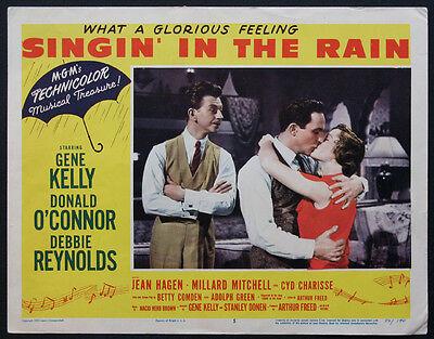SINGIN' IN THE RAIN GENE KELLY DONALD O'CONNOR DEBBIE REYNOLDS 1952 LOBBYCARD #5