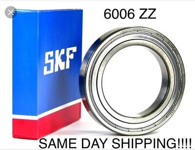 New Skf 6006-2z Deep Groove Ball Bearings 30x55x13mm 6006 Zz Same Day Shipping