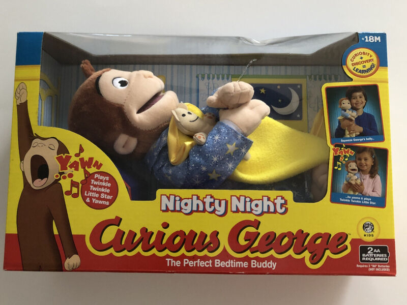 Marvel Nighty Night Curious George Doll The Perfect Bedtime Buddy Musical, Yawns