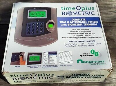 Timeqplus Biometric Time Clock Model Tq100
