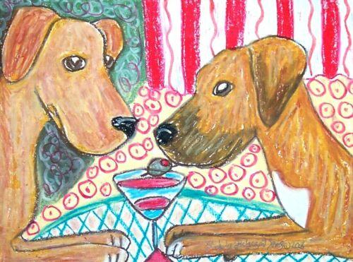 RHODESIAN RIDGEBACK Dog Art 4 x 6 Print Gift Idea Signed by Artist KSams Martini