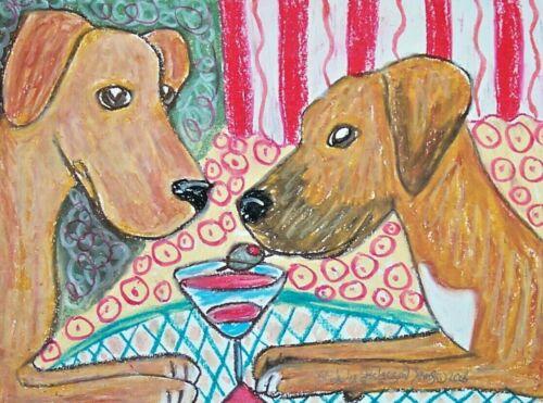 ACEO RHODESIAN RIDGEBACK Dog Art Trading Card Print Gift Idea 2.5 x 3.5 ATC