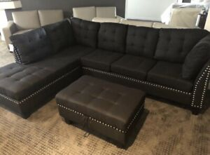 Modern Sectional with Storage Ottoman (BRAND NEW)