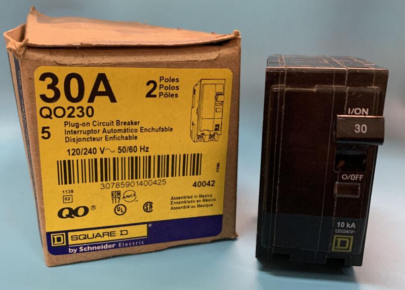 SQUARE D QO230 30A CIRCUIT BREAKER 2P 120/240V 50/60HZ INDIVIDUALLY SOLD