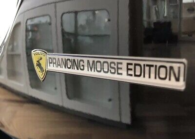 """GENUINE Discontinued Prancing Moose Edition VOLVO 5"""" Poly Gel Dome Decal"""