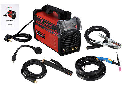 Tig-200dc 200 Amp Tig Torch Stick Arc Dc Inverter Welder 110v 230v Welding