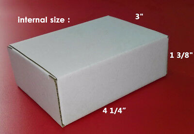 50 Pcs Lot 4 41 X3 X1 38 White Small Postal Flat Corrugated Mailing Box