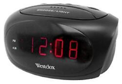 Westclox LED Display, Super Loud Alarm Clock 70044
