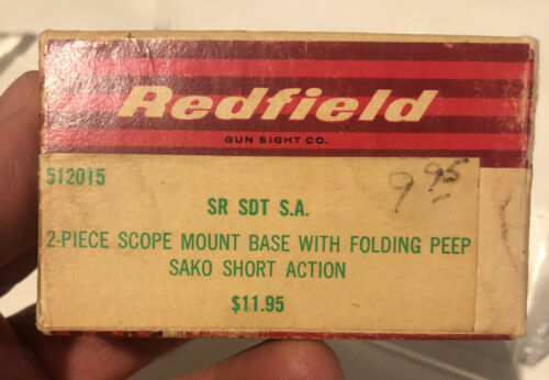VINTAGE Redfield 2-pcs Scope Mount Bases For SAKO SHORT ACTION Rifle PEEP,RARE - $69.95