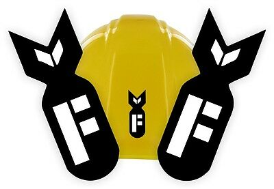 2 F Bomb Funny Hard Hat Stickers Welding Helmet Decals Motorcycle Toolbox