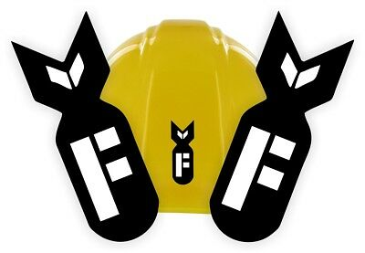 F Bomb Funny Hard Hat Stickers Welding Helmet Decals Motorcycle Toolbox Usa