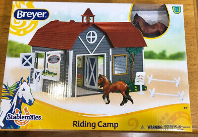 Breyer Horses Stablemates Size Riding Camp Gift Set #59212 Horse Barn Accessorie