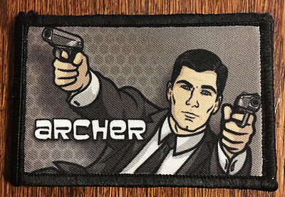 Archer Morale Patch Tactical Military Army Badge Hook Flag