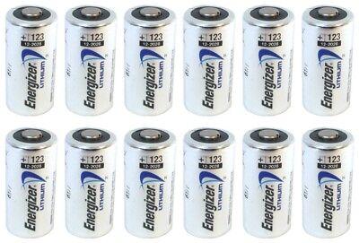 12 Energizer 3V Lithium Cr123a Batteries For Camera  Flashlight Etc