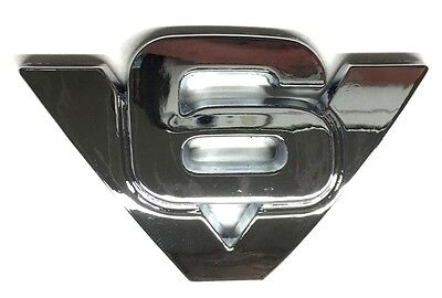 x1 New Chrome V6 Emblem Replaces OEM Ford Fender Trunk Tailgate Rear Badge Decal