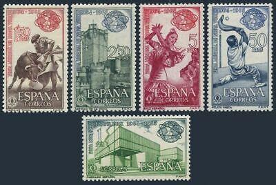 Spain 1239-1243, MNH.Mi 1471-1475. New York World's Fair, 1964.Bullfight, Dancer,