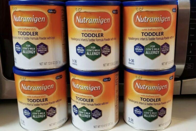 6 New Cans Enfamil Nutramigen Toddler Hypoallergenic  Infant Formula 12.6oz