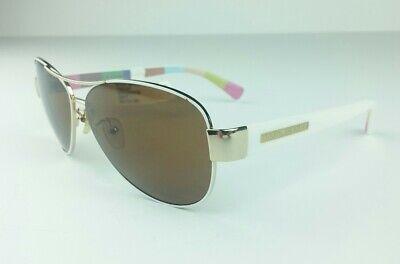 Hard Candy Women's Sunglasses Aviator White HS03P Metal Rx Able for (Candies Prescription Sunglasses)