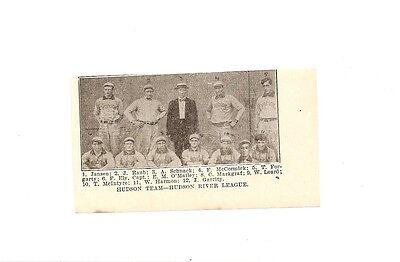 Hudson Marines 1906 Team Picture Bill Leard