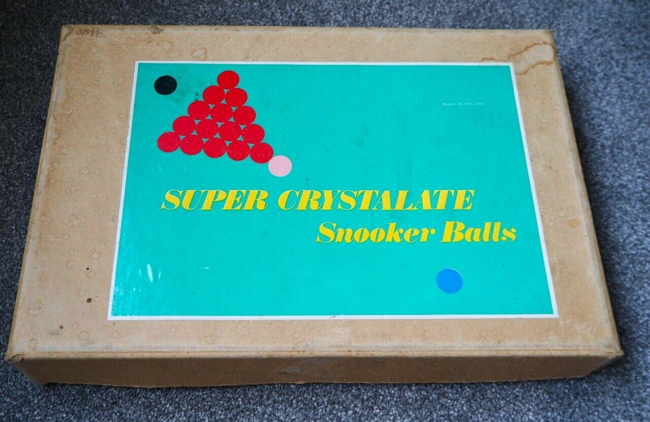 Vintage Super Crystalate Snooker Balls full set.