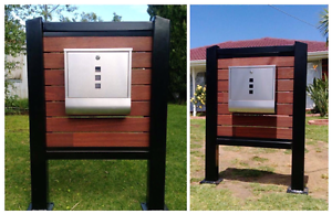 Letterbox stand stainless steel box Hoppers Crossing Wyndham Area Preview