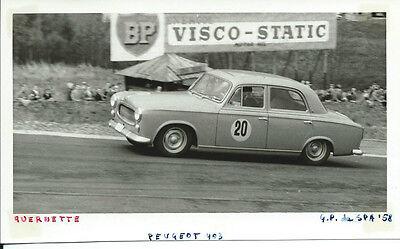 Peugeot 403 Querette Spa 1958 Original Press Photograph