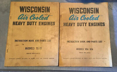 Lot Of 2 Wisconsin Air Cooled Heavy Duty Engines Te-tf Ve4 Vf4