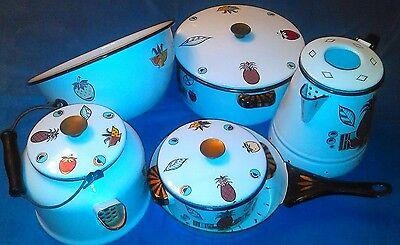 RETRO COOL VINTAGE GEORGE BRIARD COOK WARE  6 piece set well used - Retro Dinnerware Sets