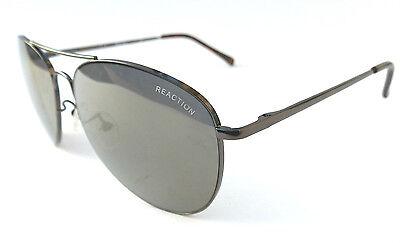 NEW men's KENNETH COLE KC 1268 silver aviator sunglasses