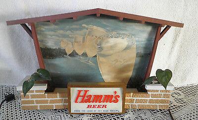 VINTAGE LIGHTED HAMM'S BEER SIGN