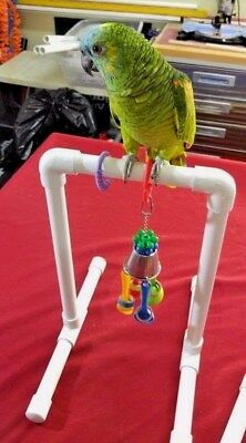 "Basic Medium 3/4"" Parrot Perch  Toy or Swing STAND **FREE SHIPPING**"