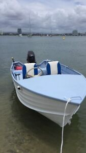 4.2 metre tinny with front steering