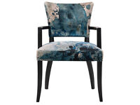 Timothy Oulton MIMI Wide Arm Dining Chair - Melting Paisley Fabric - unused, like new - £400 each