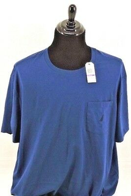 Men's NAUTICA Pocket T-Shirt 2XL, 3XL White, Patina Green, Estate Blue NWT
