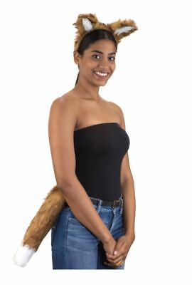 Jacobson Furry Fox Ears and Tail Set Adult Teen Larger - Fox Ears And Tail Set