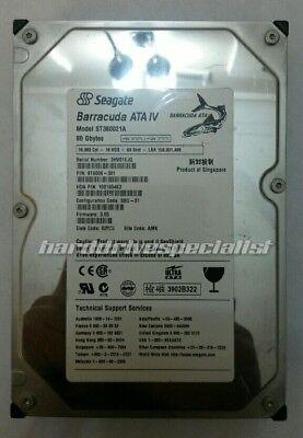Seagate St380021a 80Gb 3 5  Ide P N 9T6006 301 F W 3 05 Site Amk Date 02023