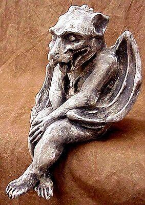 Winged Gargoyle Shelf Sitter Home Garden Mythical protector Decor Antique Finish
