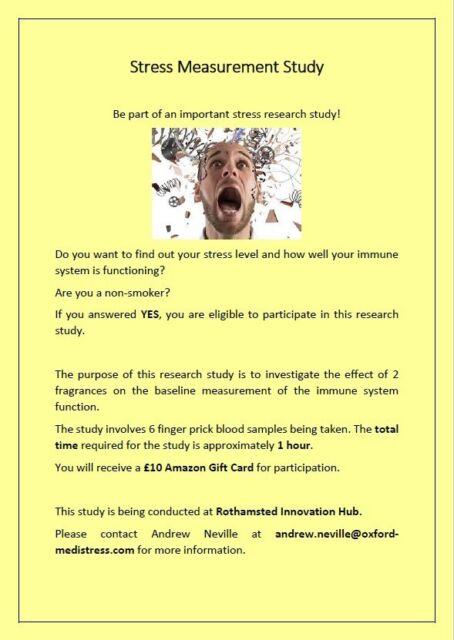 Volunteers needed for Research Study!! | in Harpenden, Hertfordshire