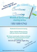 Window and eavestrough cleaning service