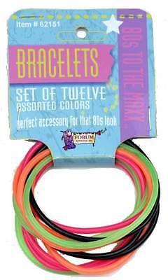 Cheap Jelly Bracelets Set of 12 80s Bracelets 1980s Madonna Bracelets 62151](80s Jelly Bracelets)