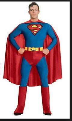 Adult Men's SUPERMAN Costume ~ L Large (Jacket 42-44) ~ NEW (Superman Costume For Men)
