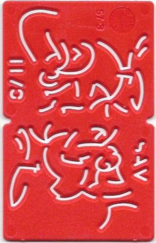 1960s / 1970s Kelloggs Stencil SAM - Red