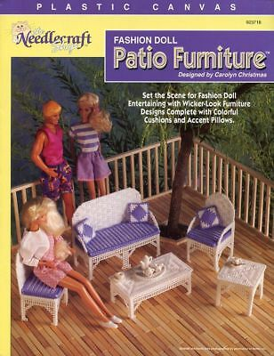 Fashion Doll Patio Furniture for Barbie Plastic Canvas PATTERN - 30 Days to Pay!