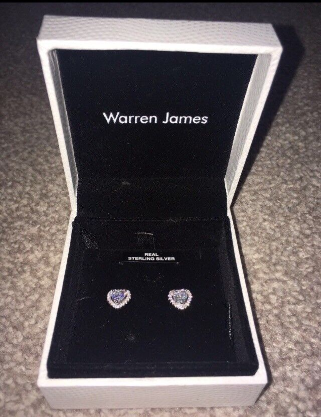 c3d9af1be Warren James Sterling Silver Heart Earrings | in Syston, Leicestershire ...