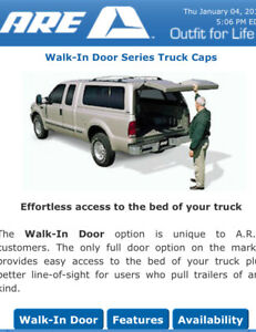 ARE Walk-In Door truck cap on Toyota Tundra